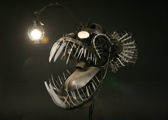 Deep Sea Angler Fish Sculpture by JustinLaDoux on Etsy