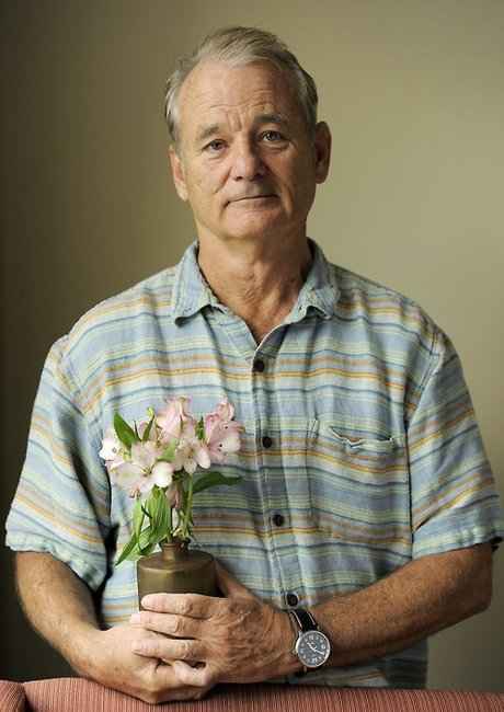 Bill Murray and a potted plant