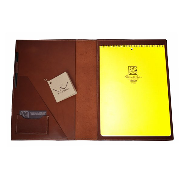 Portfolio (with Rite in the Rain Notebook and Pen)  |  White Wing Label