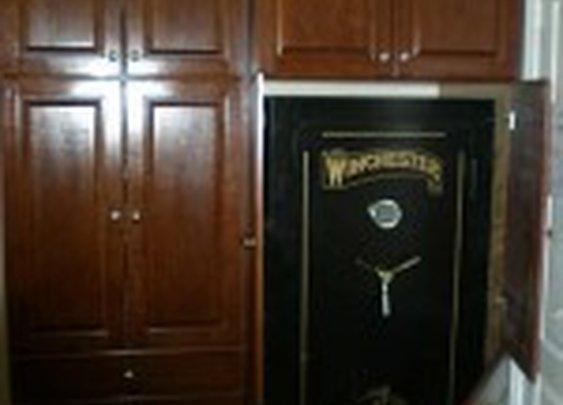 Security Safe Hidden Behind Custom Secret Door