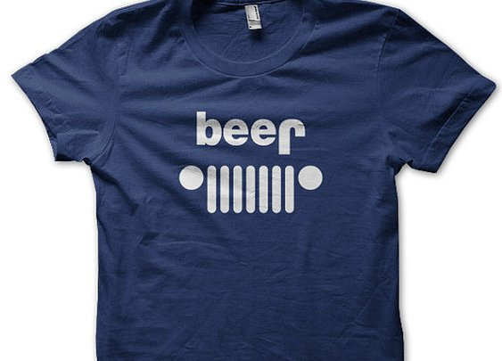 Beer Jeep Parody T Shirt by SunDogShirts on Etsy