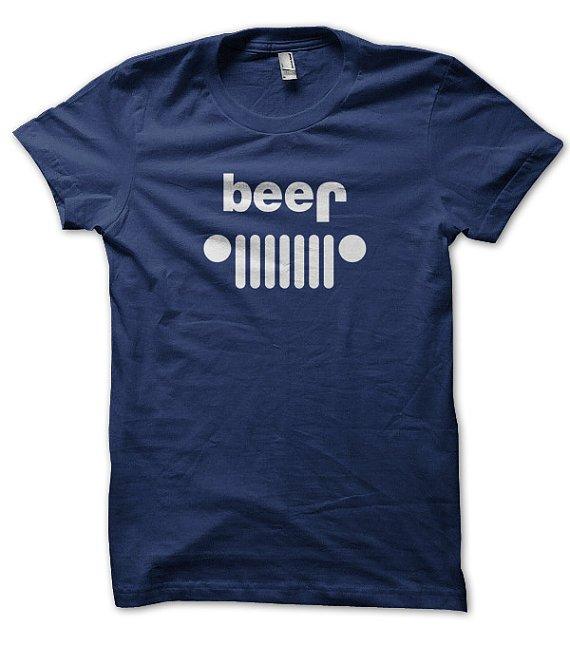 Beer Jeep Parody T Shirt by SunDogShirts on Etsy