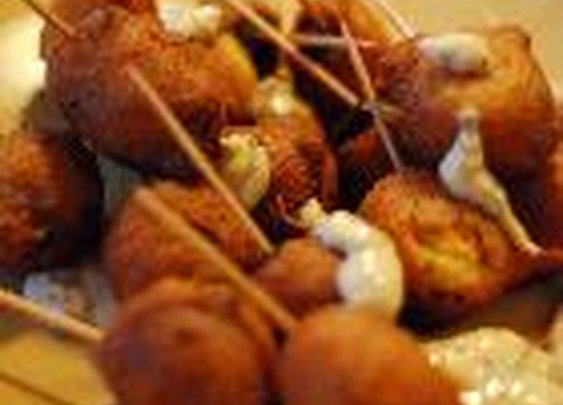 Spicy Corn Dogs with Hot Mayo