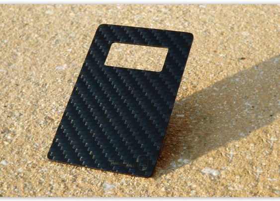 Leverage_ The Carbon Fiber Credit Card Sized Bottle Opener by Kumquat — Kickstarter