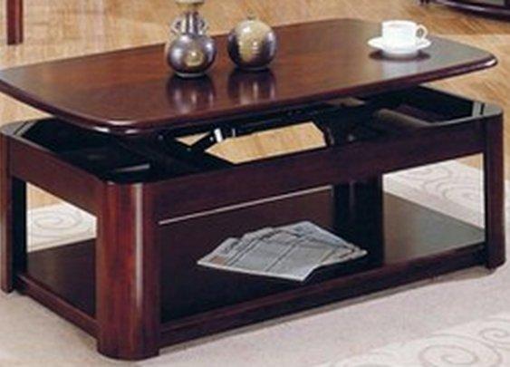 Lift-Top Hidden Storage Coffee Table