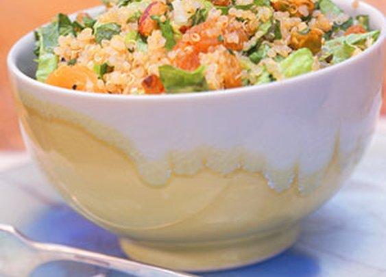 Quinoa Salad with Apricots and Pistachios Recipe | MyRecipes.com