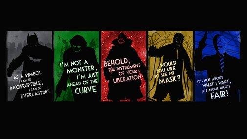 Dark Knight Hero and Villans