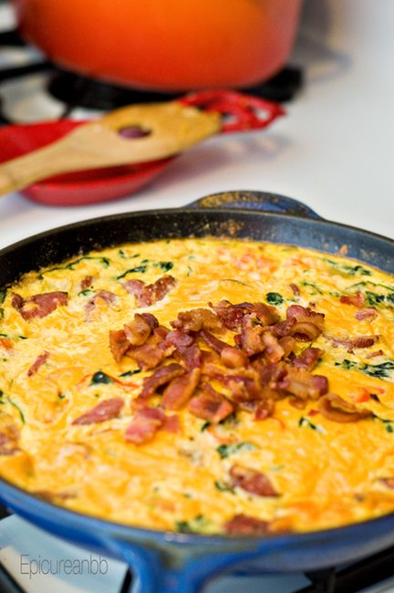 The Epicurean Bodybuilder • Ron Swanson Approved: Cheesy Spinach Grits with eggs