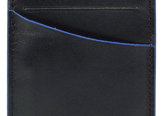 Clearcut Front Pocket Wallet - Black & Blue