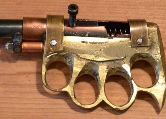 Shooting from the fist — 3 brass knuckle pistols [6 pictures]