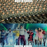 The difference between North and South Korea