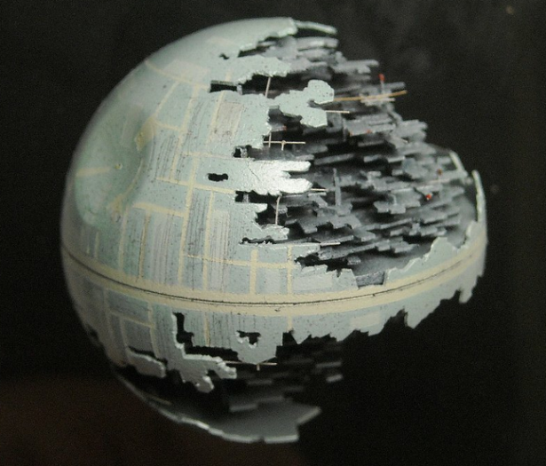 Death Star Made From Table Tennis Ball