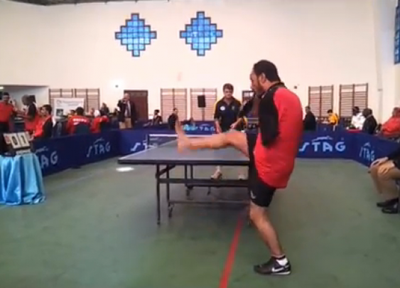 Man Plays Ping Pong With Mouth