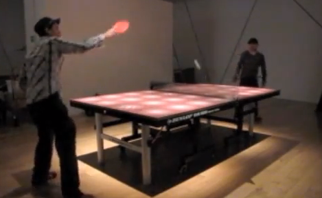 Noisy Table: Ping Pong Table That Makes Sounds When Ball Bounces