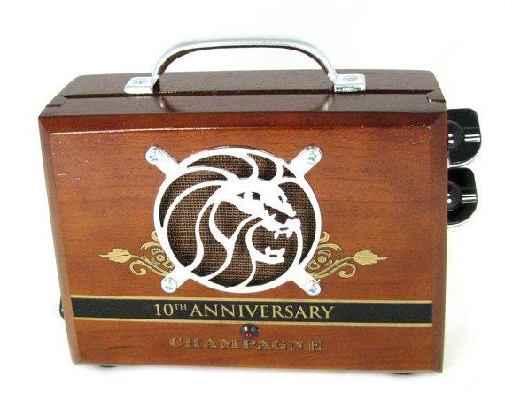 C B Gitty Cigar Box Guitar Amplifier No 46 by CBGittyCrafterSupply