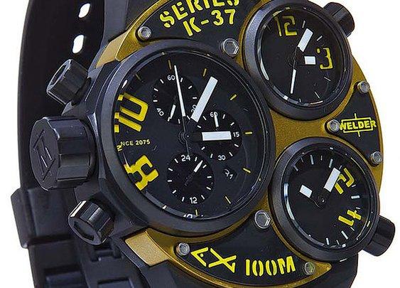 WELDER K37 6501 Triple Time Zone Chronograph