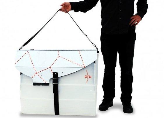 Oru kayak folds up like origami