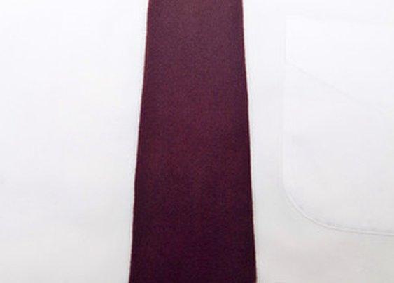 Oxblood 100% Felted Wool Long Tie