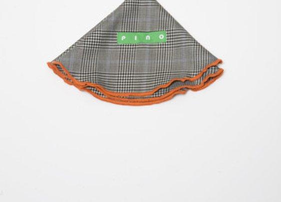 Black/White Glen Plaid Wool (Italian Super 100s) Pocket Round