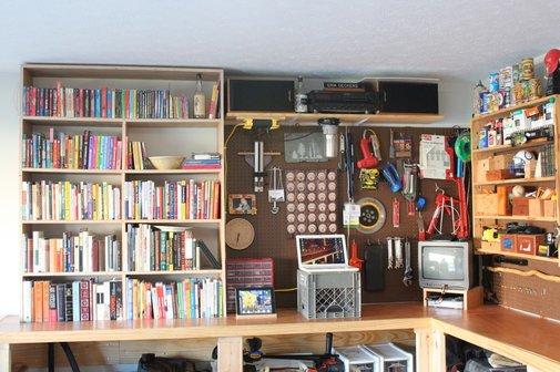 My Garage Workbench/Office/Library