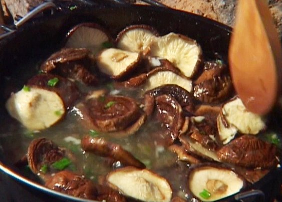 Hearty Shiitake Mushroom and Miso Soup Recipe : Tyler Florence : Recipes : Food Network