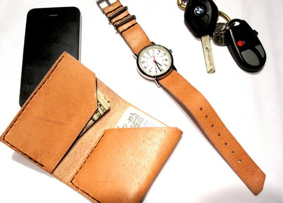Wallet and watch from the same hide.