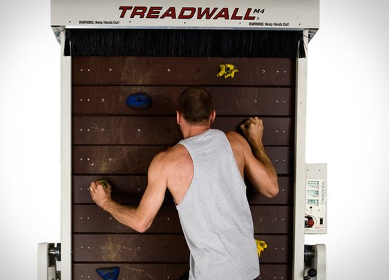 Treadwall - a climbing wall, on a treadmill!