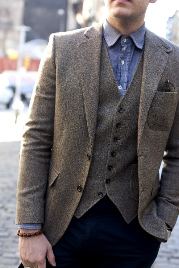 Men's Style Fashion Blog - The Versatile 3 Three Piece Donegal Tweed Suit | TSBmen