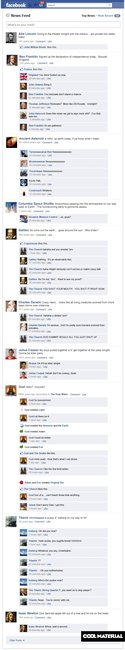 If historical events had Facebook updates...
