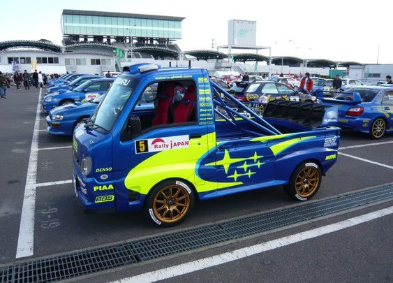 Subaru WRC Support and Recovery Vehicle