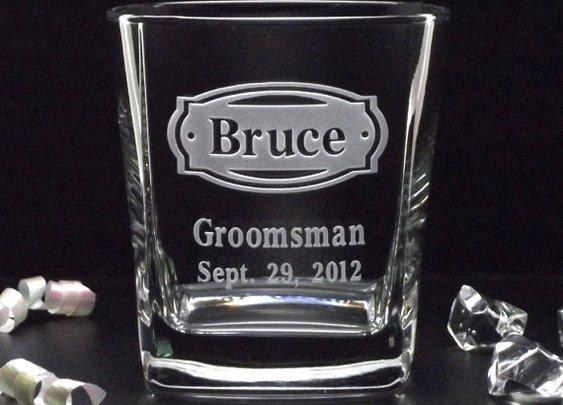 Set of 2 Groomsman Gifts  2 PERSONALIZED ROCKS by distinctglass