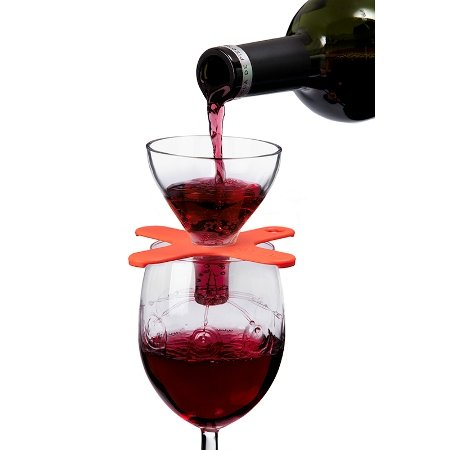 Houdini™ Wine Shower On-Glass Red Wine Aerator