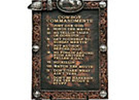 M&F; Western Products® 2-Piece Cowboy Commandments & Easel | Cavender's Boot City