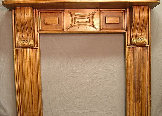American Folk Art Mantel In Pine from circaantiquesltd on Ruby Lane