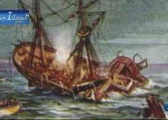 The Birkenhead shipwrecked near Dangerpoint in 1852 - YouTube