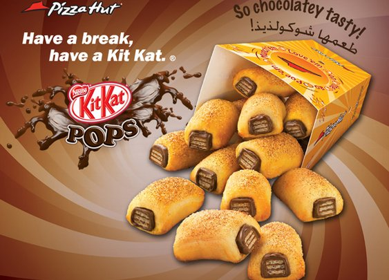 Pizza Hut Kit Kat Pops, Candy Bars Wrapped in Sugared Pizza Dough