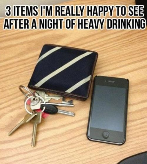 3 Items I'm Really Happy to See, After a Night of Heavy Drinking