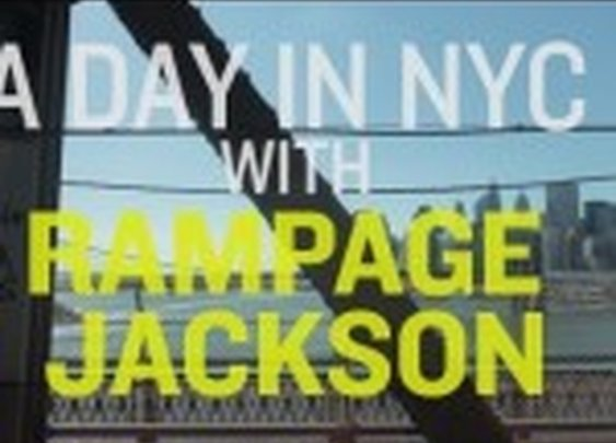 VIDEO: A Day in NYC with Rampage Jackson |