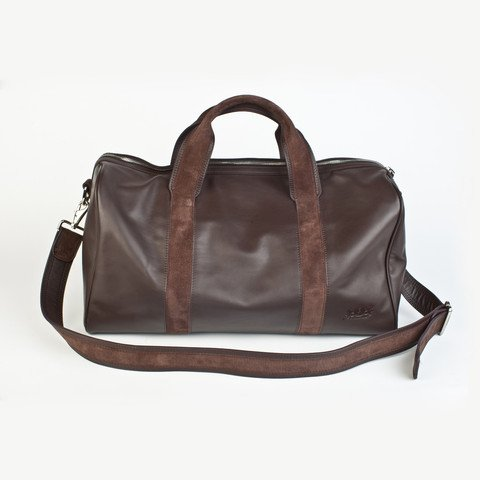 First Class Traveler Leather Duffel Bag