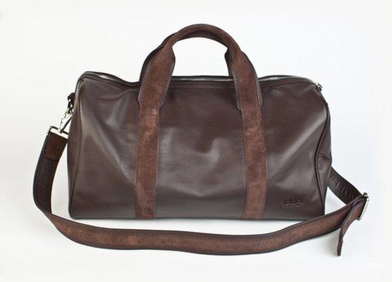 First Class Traveler Leather Duffel Bag
