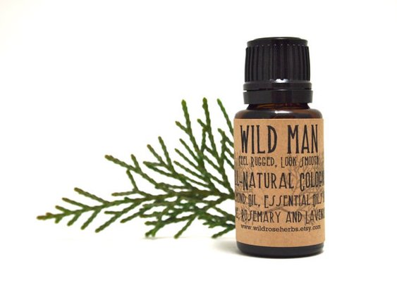 Natural Men's Cologne Wild Man Essential Oils by WildRoseHerbs