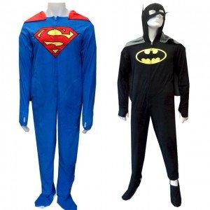 Caped Superman   Batman Onesie Pajamas For Grown-ups  6b527d51f71c