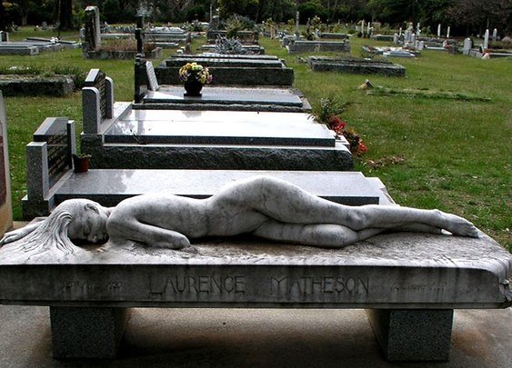 Beautiful marble woman headstone sculpted by the deceased's friend, and at the request of his widow - Macedon Cemetery of Victoria, Australia  - Imgur