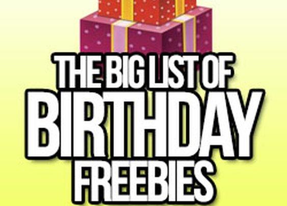 The Massive List of Birthday Freebies