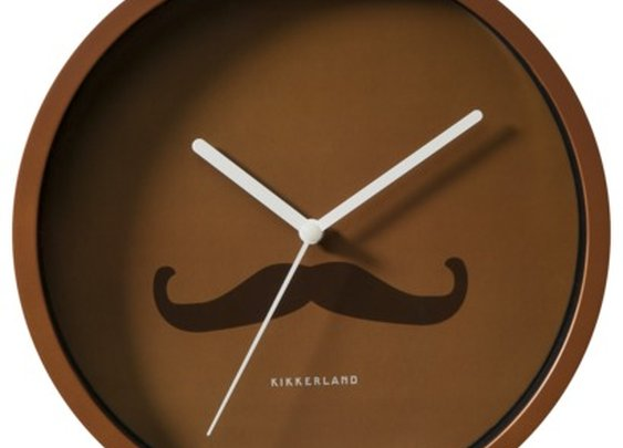 Mustache Wall Clock
