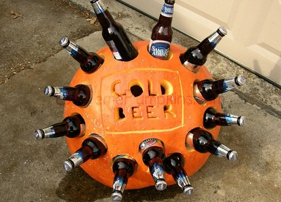 pumpkin beer cooler
