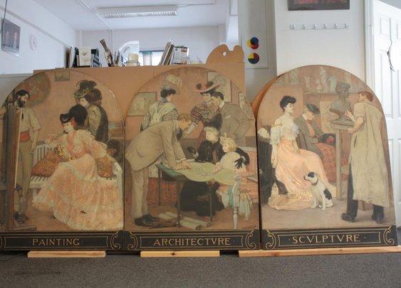 In our studio in Portland, Maine: 2 more paintings by Albert Herter