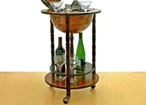 "Small 16th-Century Italian Replica Globe Bar - 17.5"" diameter"