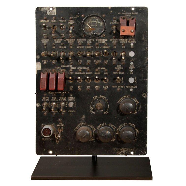 WWII Bomber plane panel