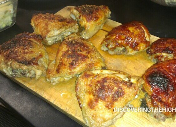 The fined product. Chicken thighs